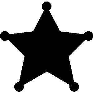 Sheriff Badge Clipart.