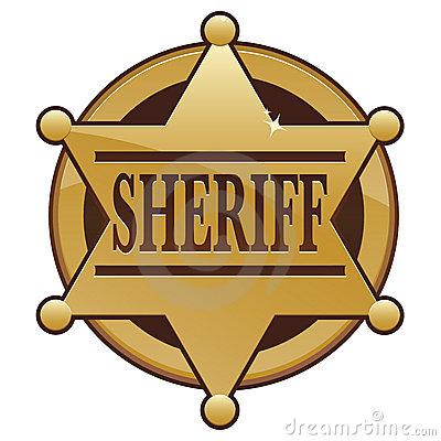 Deputy sheriff badge clipart.
