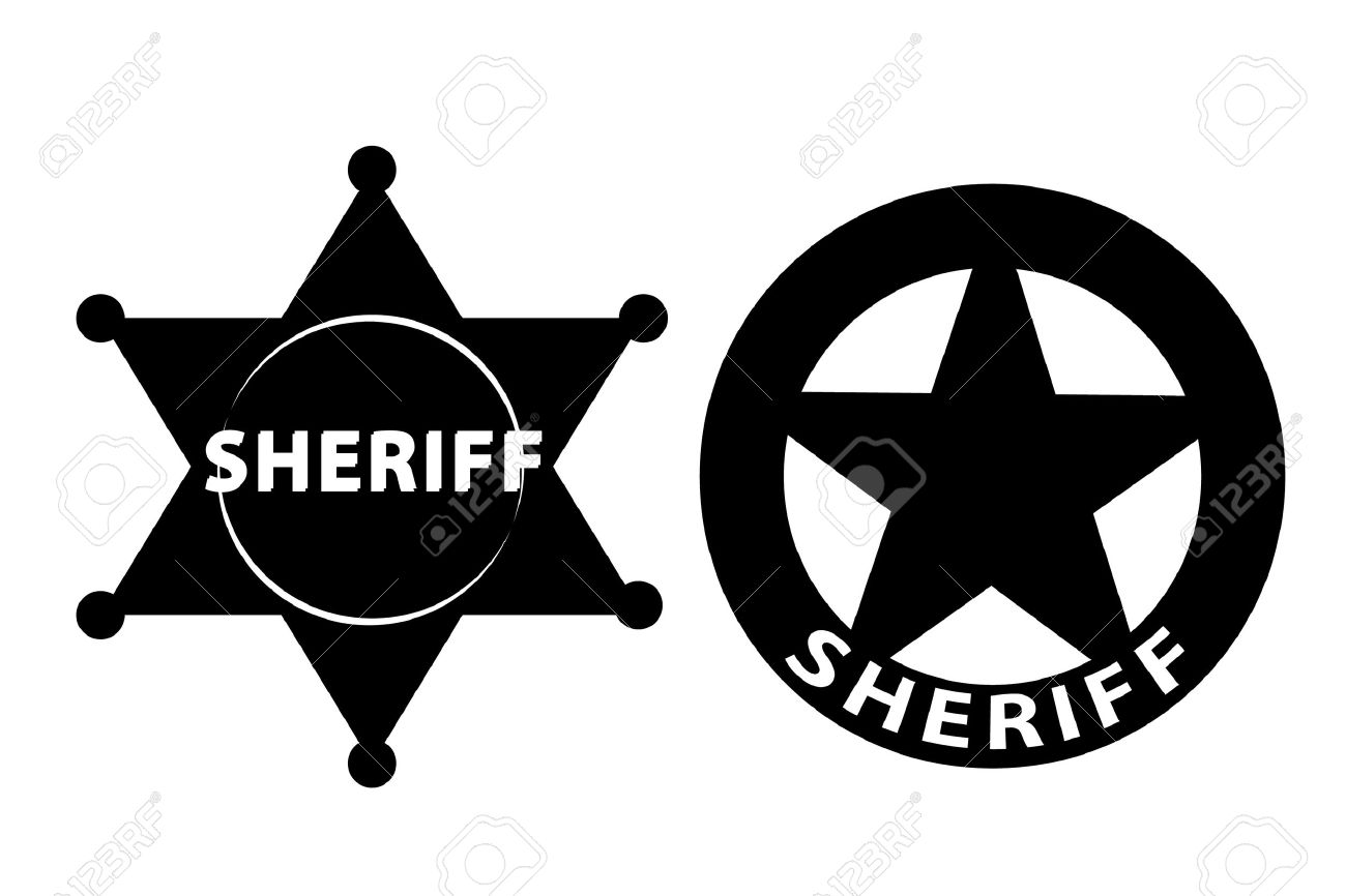 Black And White Badge Clipart.