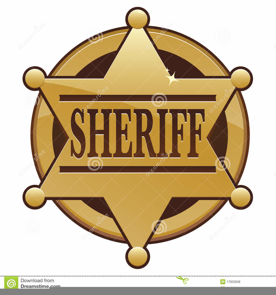 Sheriff Badges Clipart.