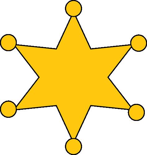 30+ Sheriff Star Clip Art.