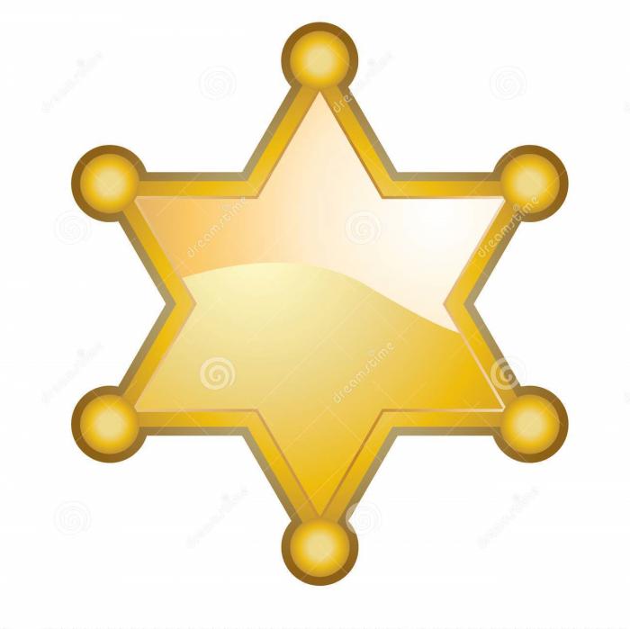 Estrella De Sheriff Png Vector, Clipart, PSD.