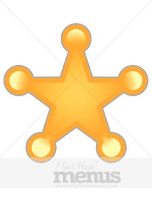 Sheriff Star Clipart.