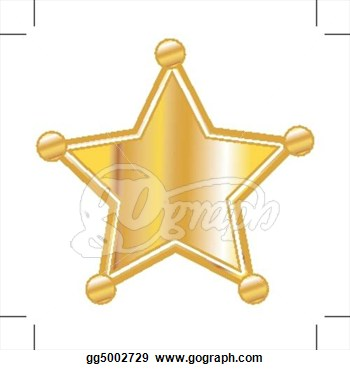 Sheriff star badge clipart.