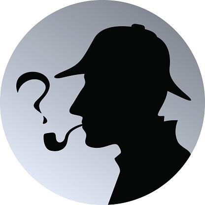 Sherlock holmes head silhouette clipart clipartfest.