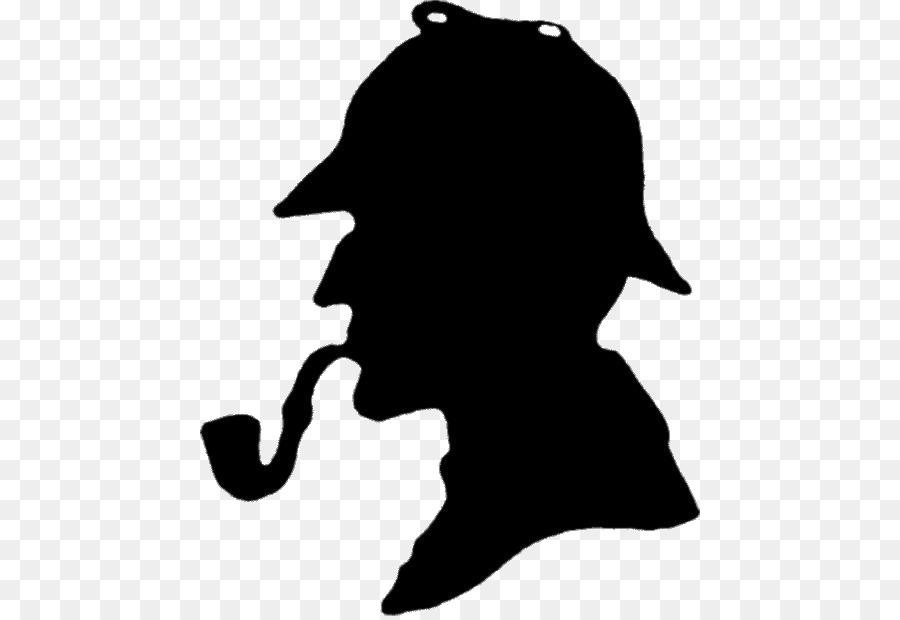 Sherlock Holmes Black png download.