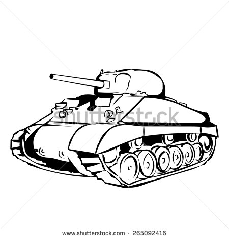 M4 sherman clipart.