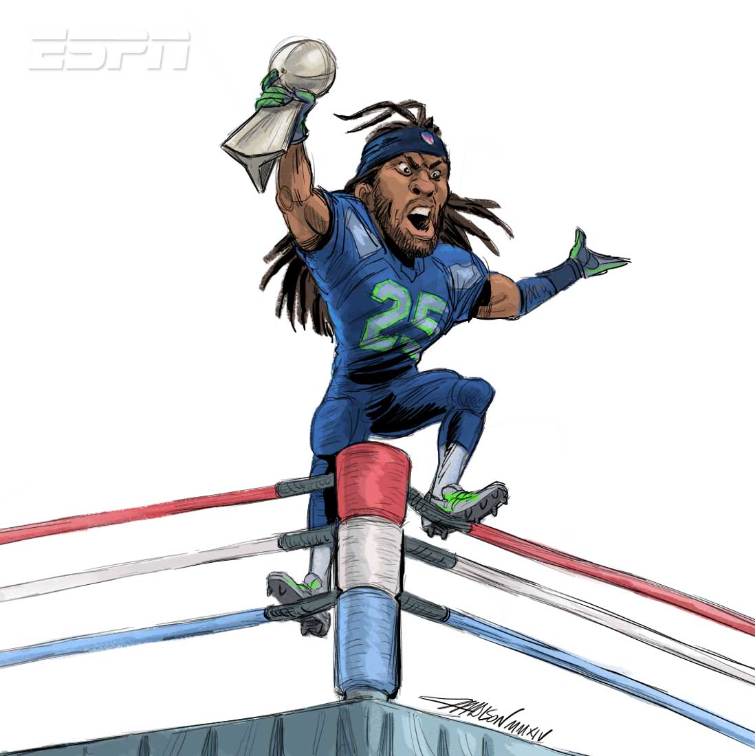 Richard sherman clipart.
