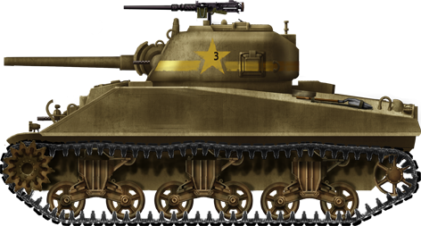 Medium Tank M4 Sherman.