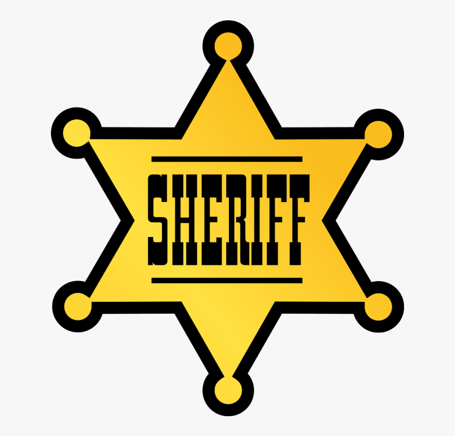 Cowboy Clipart Sheriff Badge.