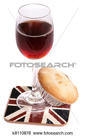 Pictures of Christsmas sherry and mince pie k8110878.