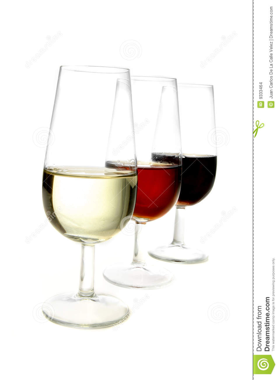 Sherry Wines Cups Stock Images.