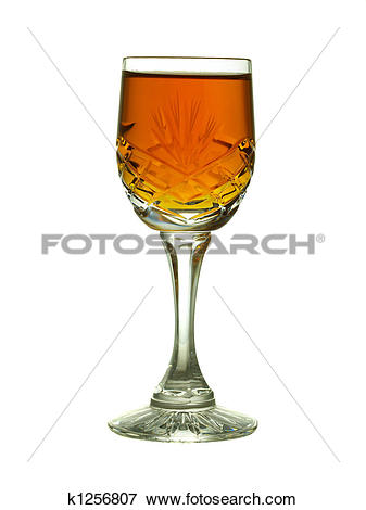 Picture of Crystal glass with sherry.