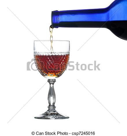 Stock Image of Sherry or port being poured into glass.