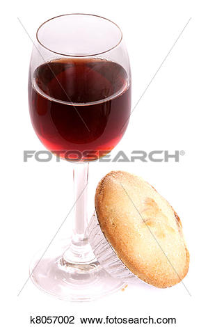 Clip Art of Christmas sherry and mince pie k8057002.