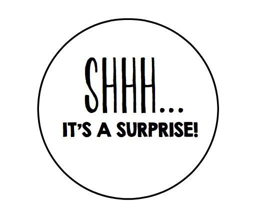 Shhh it's a surprise.