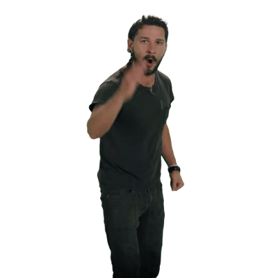Just Do It Shia LaBeouf transparent PNG.