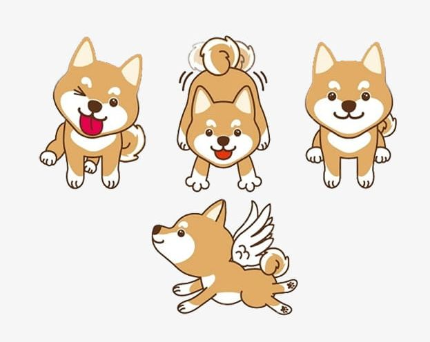 Cartoon Shiba Inu Material PNG, Clipart, Animal, Cartoon.
