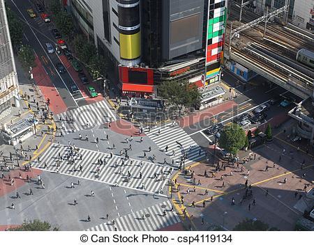 Stock Photo of Shibuya crossing in Tokyo.