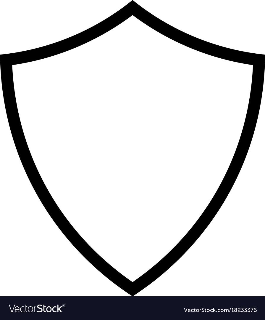 Shield line icon.
