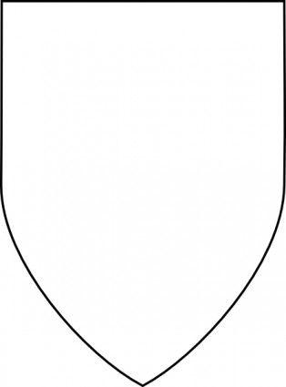 Simple Shield clip art.