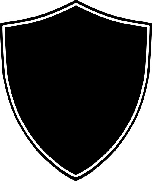Download Shield Clip Art Black And White Transparent PNG.
