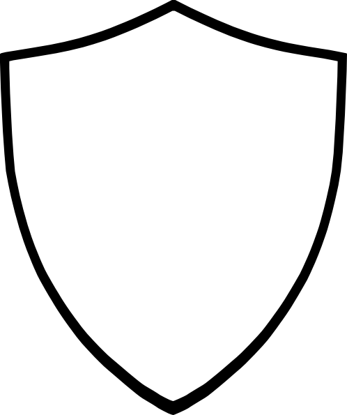 Download Free png Shield Clip Art Black And White PNG.