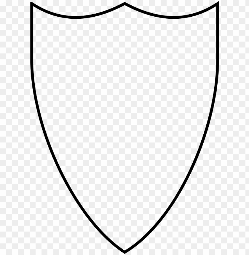 shield transparent outline.