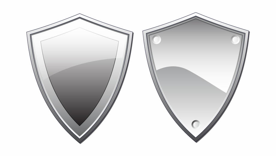 Two Silver Shield Illustrations In Vector Format Shield.