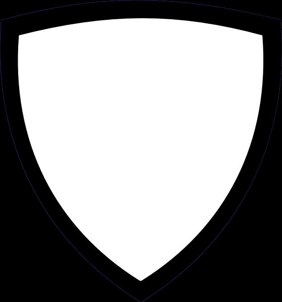 Clipart black and white shield icon.