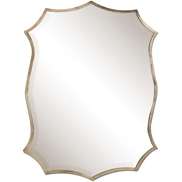 Heraldic Shield Nickel Plated Mirror.
