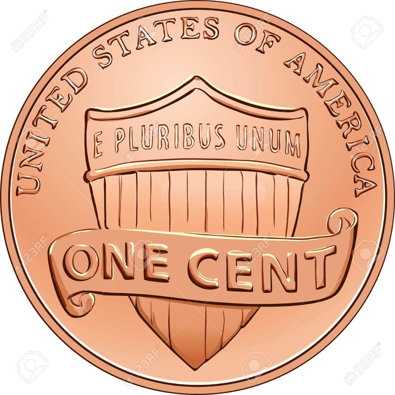 1 penny clipart.