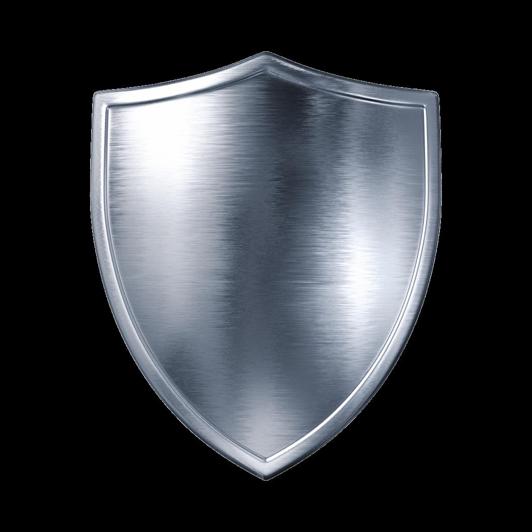 Plain Silver Shield transparent PNG.