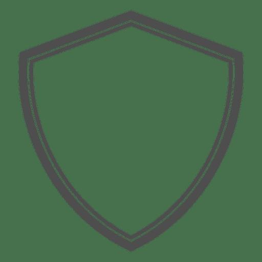 Shield heraldic emty.
