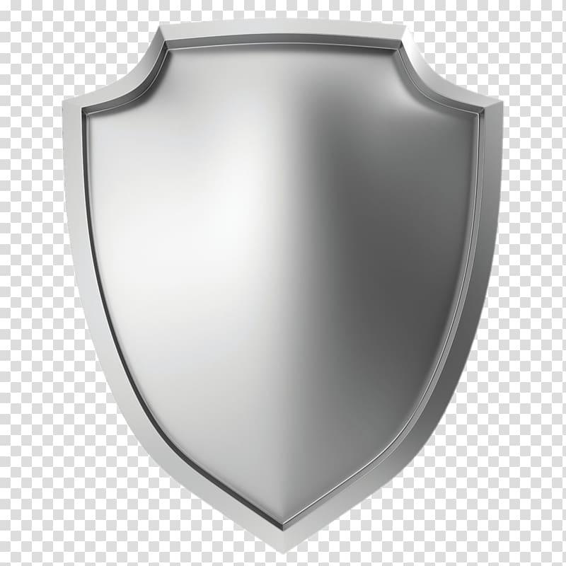 Metal Shield illustration Icon, Silver Shield, silver shield.