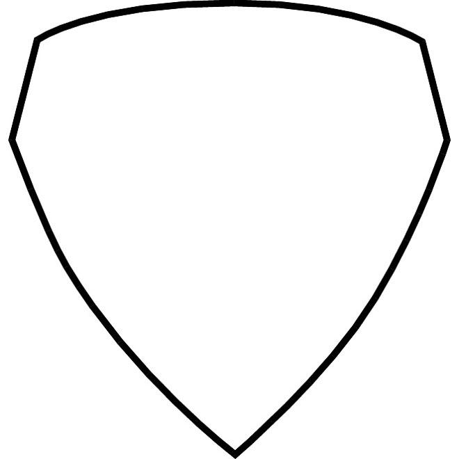 Shield vector shape.