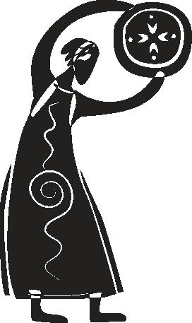 Tribal Figure Shield Wall Sticker.