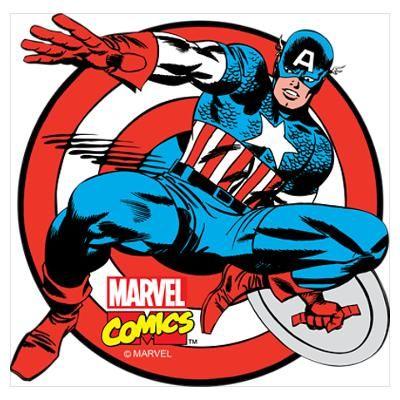 Captain America Shield Wall Art Poster.