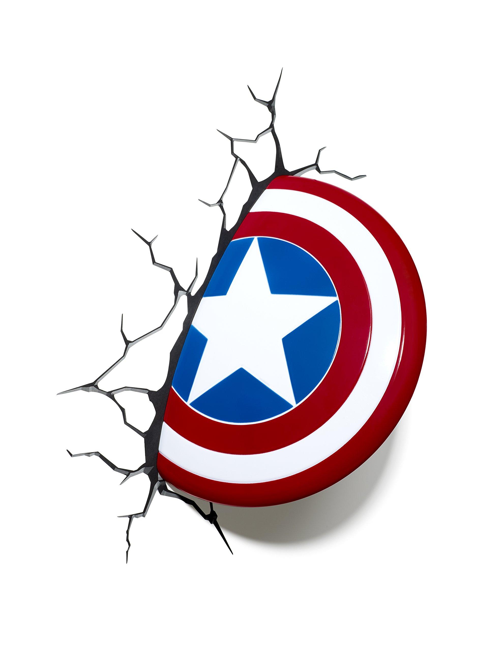 Marvel Comics 3D Captain America Shield Wall Light.