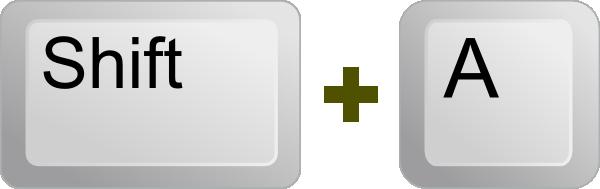 Keyboard Key Shift A Clip Art at Clker.com.