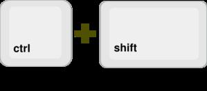 Ctrl+shift Buttons Reversed Clip Art at Clker.com.