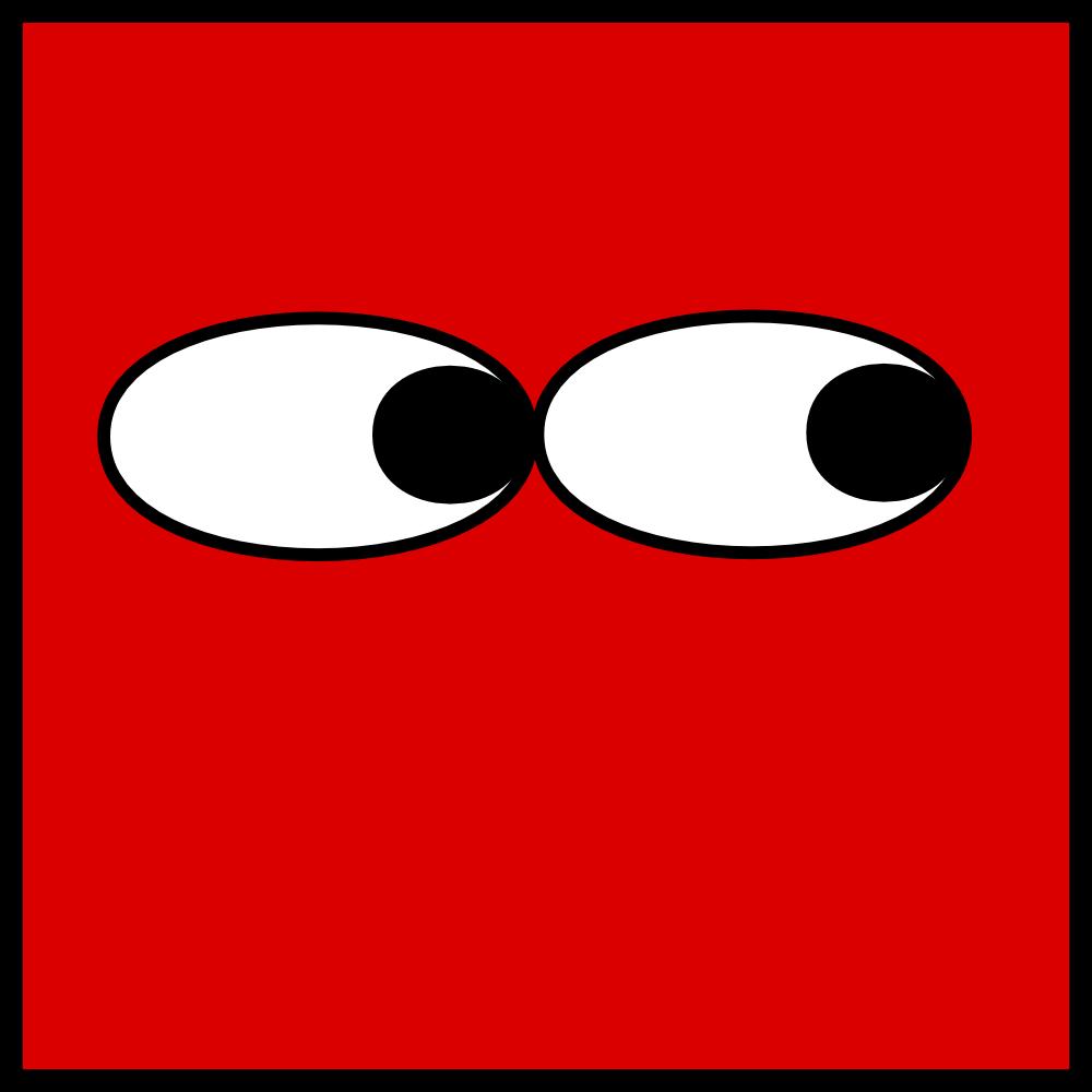 Shifty eyes clipart.