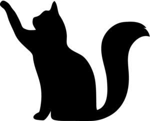 cat outline clipart #20