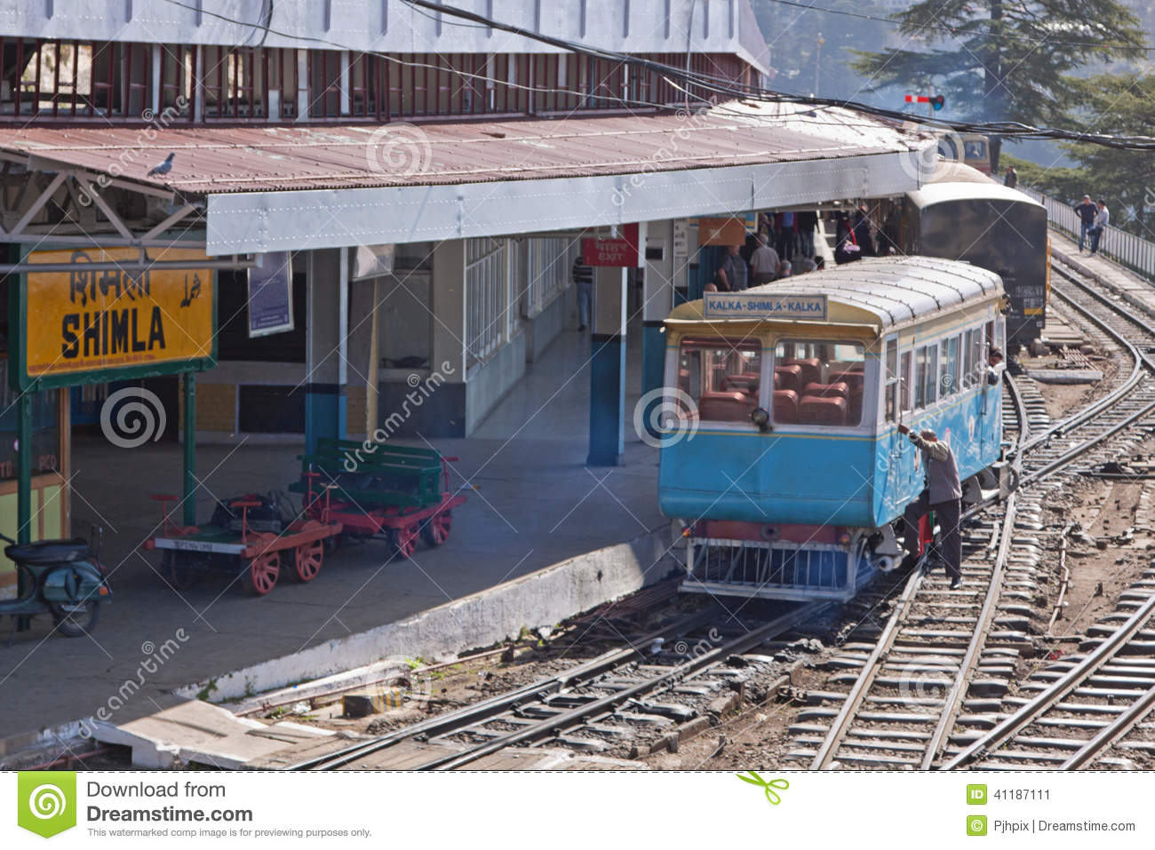 Shimla Railway Station Editorial Photo.