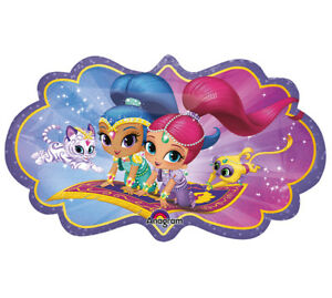 Details about Shimmer & Shine Happy Birthday Party Jumbo Mylar Balloon  Decoration.