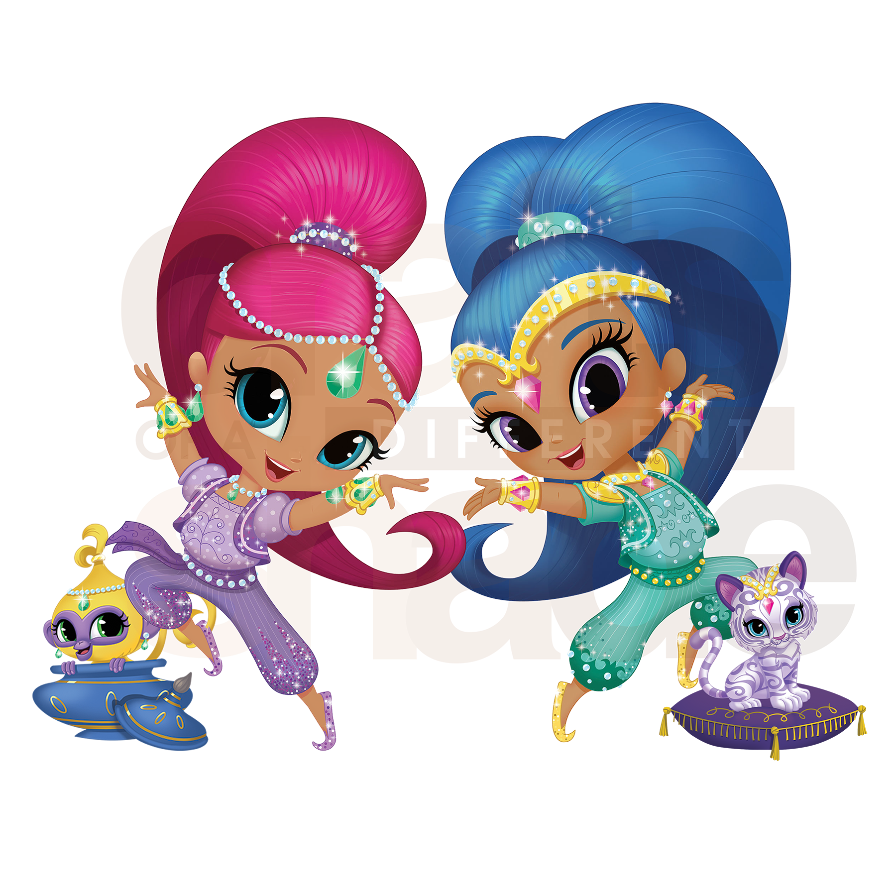 Shimmer and Shine Clip Art.