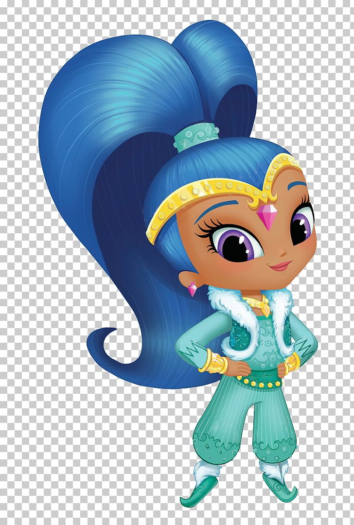 Shimmer and Shine, Season 2 Coloring book, shimmering, blue.