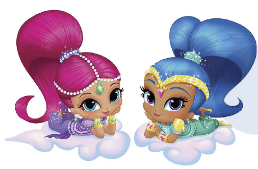 Shimmer and shine clipart..