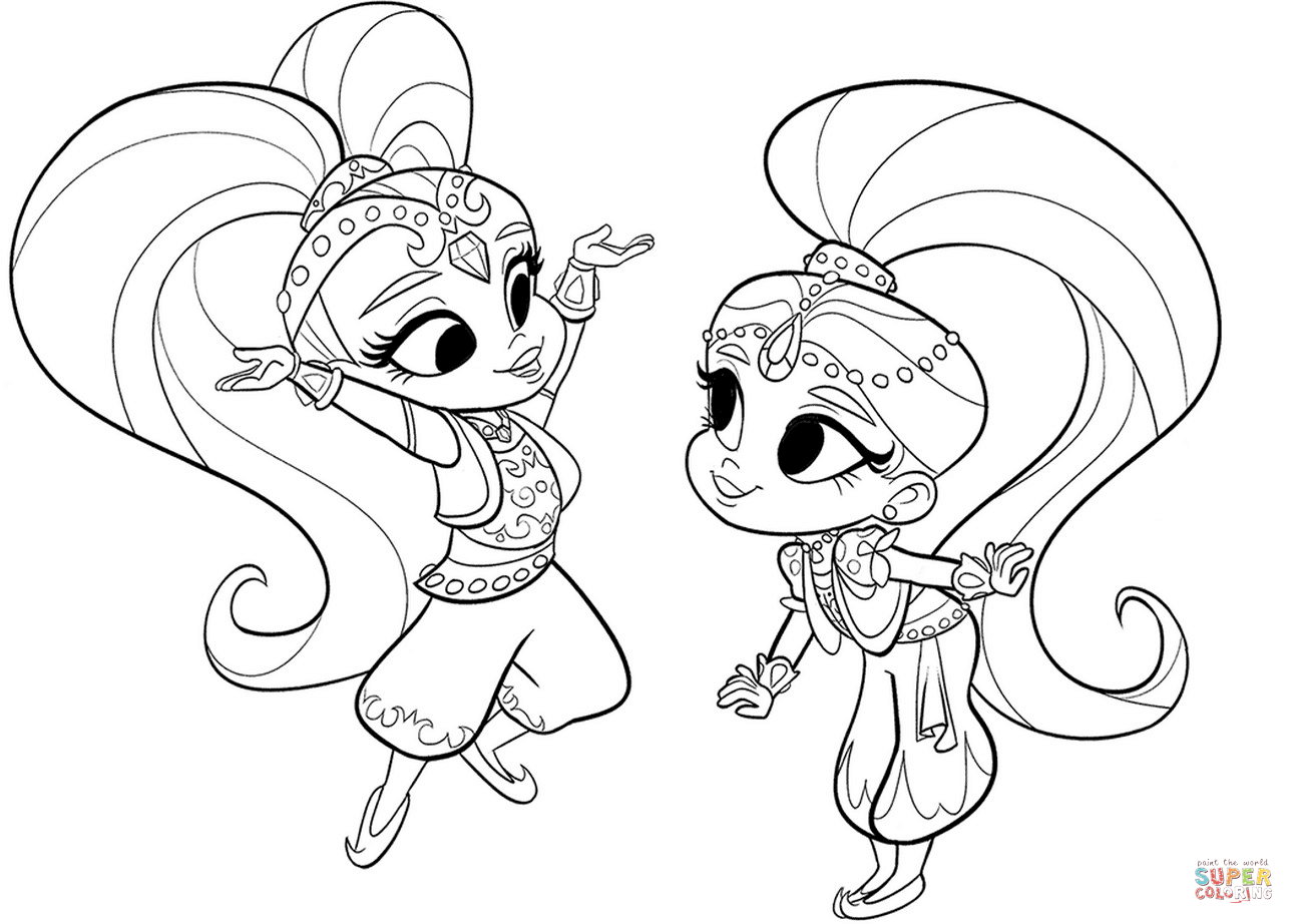 556 Shimmer And Shine free clipart.