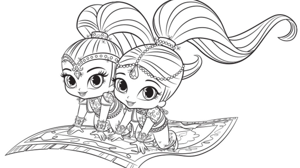 Shimmer And Shine Nickjr Coloring Pages.